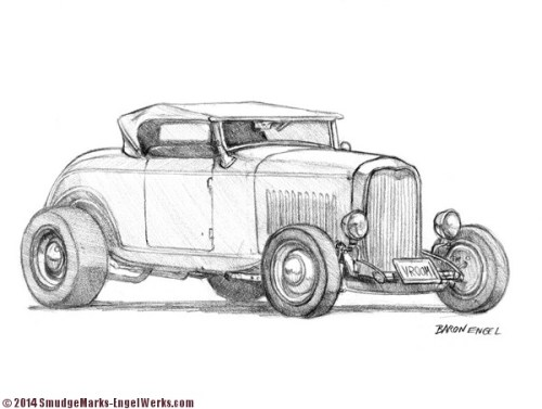 1932 Ford Hot Rod Sketch