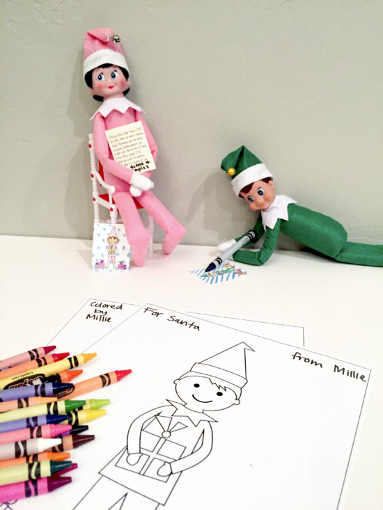 Elf On The Shelf Free Printable Coloring Sheets - Smudgey