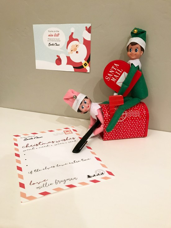 Santa letter free printable elf on the shelf smudgey scroll down to download this santa letter free printable a note from santa saying that theyre on the nice list spiritdancerdesigns Image collections