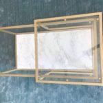 Ikea Table Hack – Gold & Marble DIY Tutorial