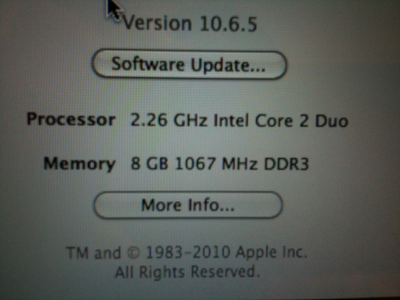 MacBook Pro upgraded to 8GB RAM