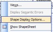 shape display options context menu