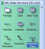 association class visio shape
