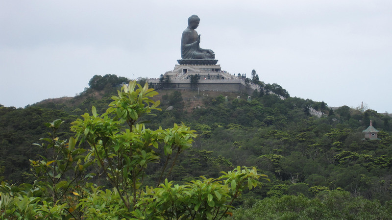 View of Giant Buddha from Wisdom Path