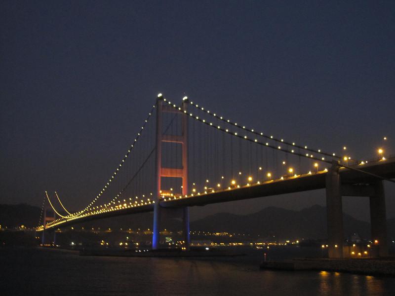 Tsing Ma Bridge in Late Evening