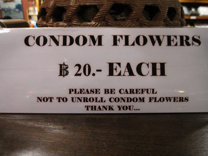 Condom Flowers at Cabbages and Condoms