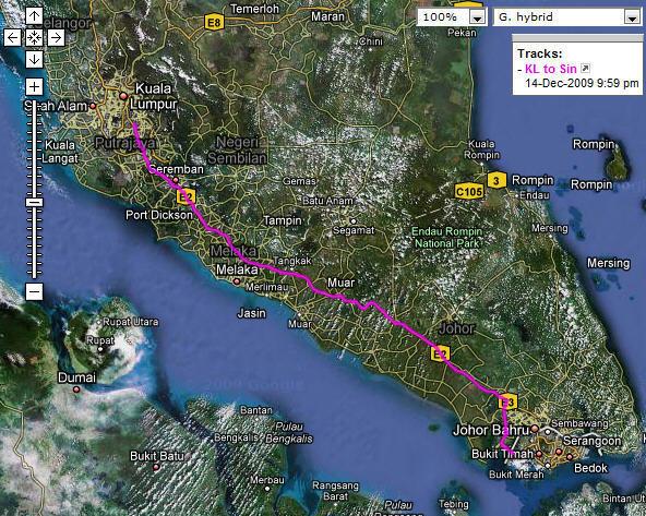 Motion X Tracking from Kuala Lumpur to Singapore