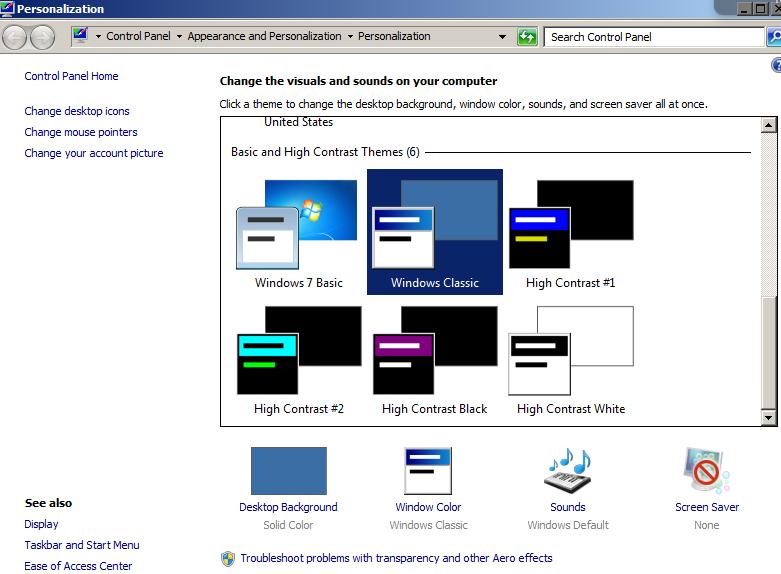 Windows Classic in Windows 7