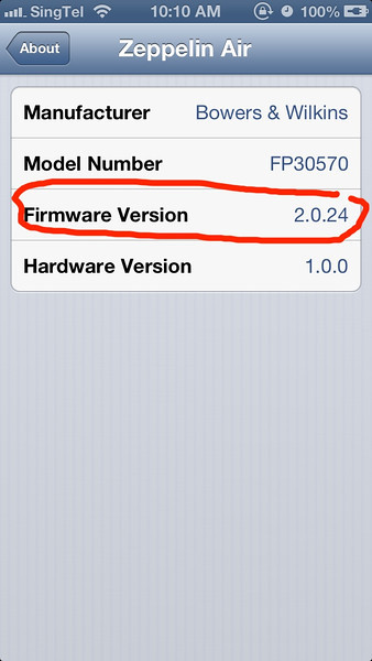 How to check Firmware of Zeppelin Air