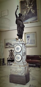 The Cornu Clock at Lambert's Castle in Paterson, New Jersey.