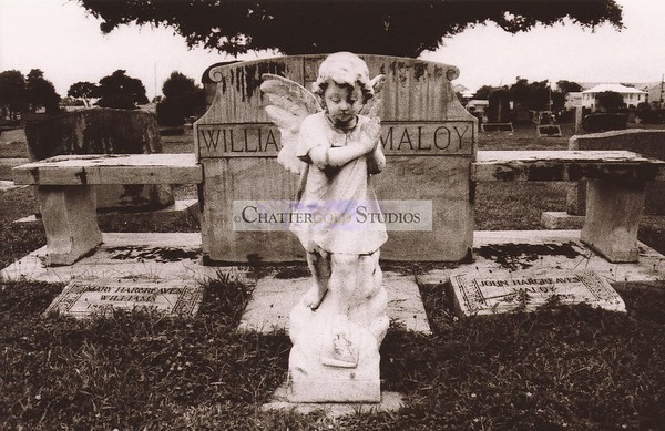 angel in cemetery.  Happy Halloween!