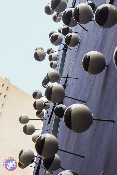 Sculpture by Frederic Amat on the Side of the Ohla Hotel in Barcelona (©simon@myeclecticimages.com)