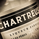 Chartreuse label (detail), photo © 2015 Douglas M. Ford. All rights reserved.