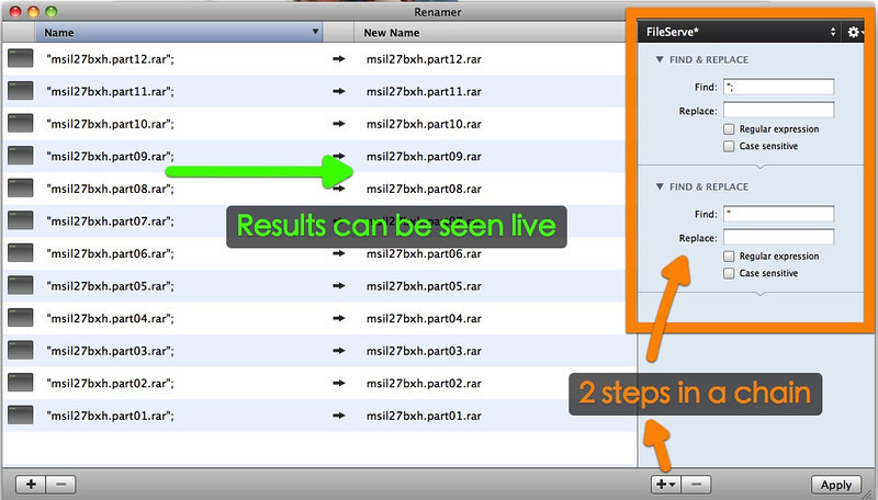 Renamer for Mac to solve Fileserve Weird Characters in Synology DS1511+