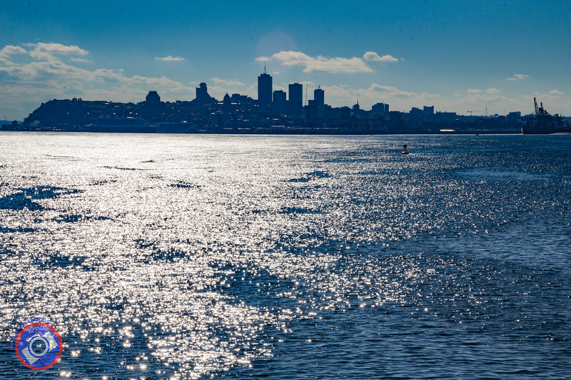 A View of the Quebec City Skyline from the St. Lawrence River (©simon@myeclecticimages.com)