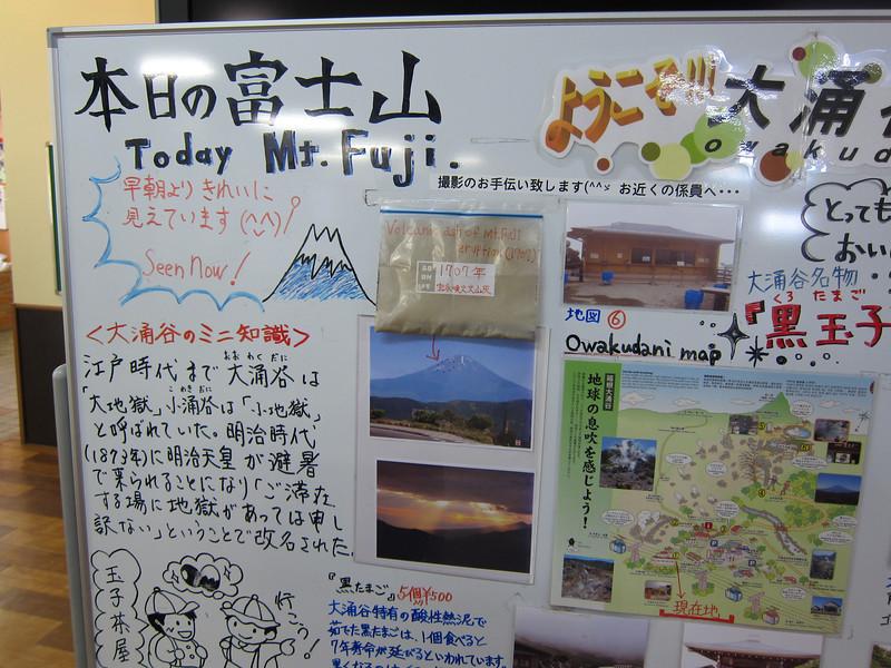 Photo of Mount Fuji at Owakudani Hakone Japan