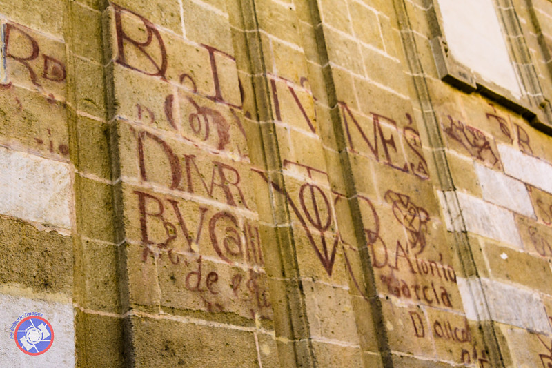Bulls Blood Writing on the Cathedral Wall (©simon@myeclecticimages.com)