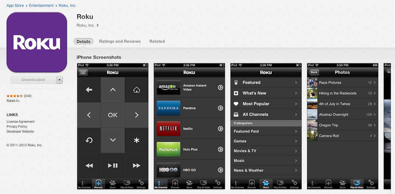 Roku 3 Apple iPhone App