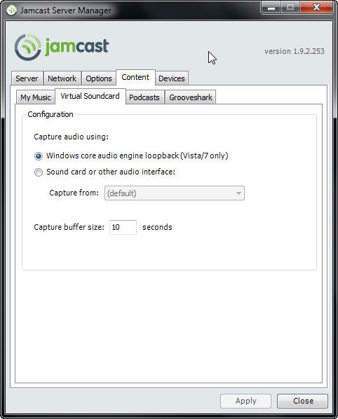 Using JamCast with Sonos for PC Sounds