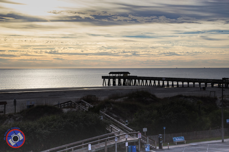 Looking Over the Beach and Pier from an Upper Floor of Hotel Tybee (©simon@myeclecticimages.com)