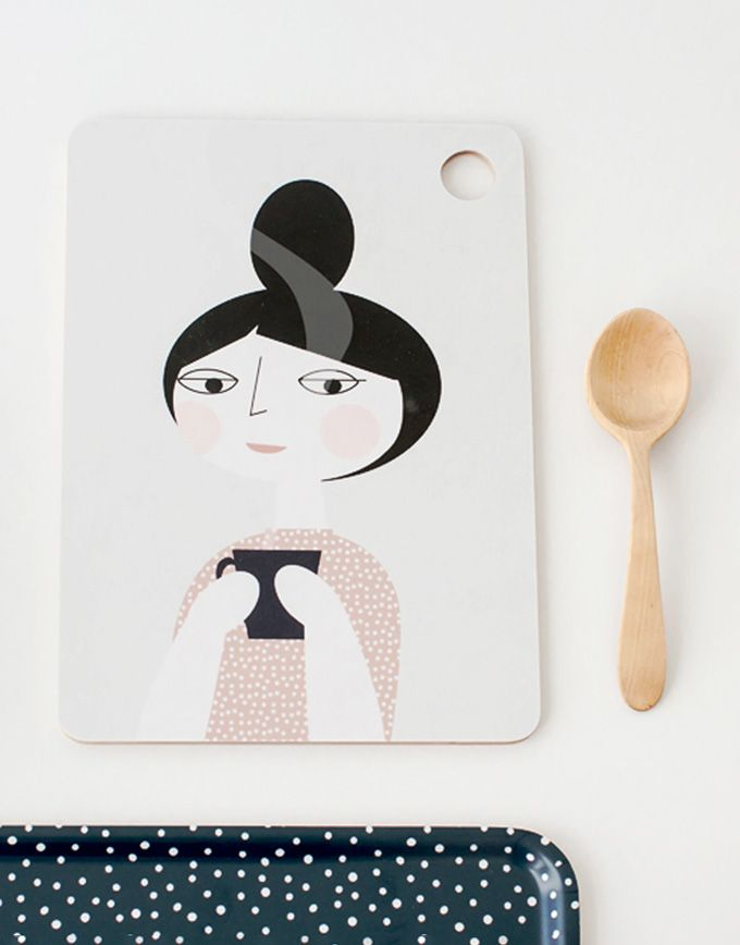 Decoratieve snijplank – coffee time - Pink
