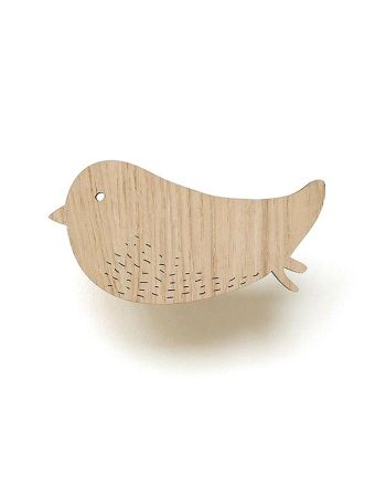 Houten wandhaak – Bird