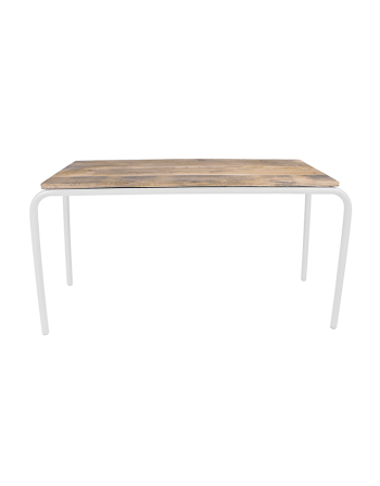 Kidsdepot - Rechthoekige tafel original - hout metaal wit