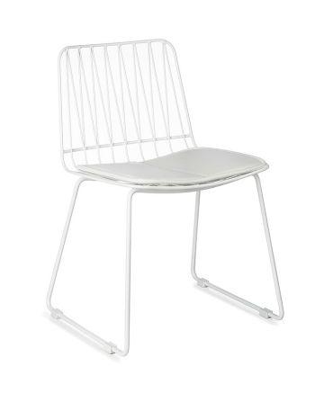 Kidsdepot - Set van 2 stoeltjes Hippy – Metaal wit