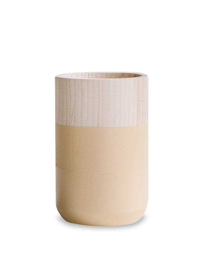 Klein houten vaasje - Autumn - Beige