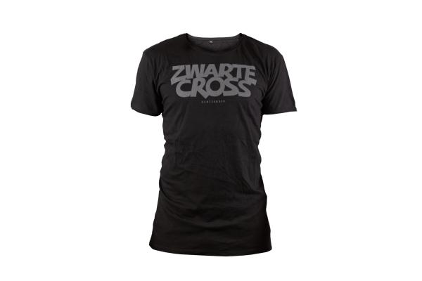 zwarte cross tshirt zwart logo