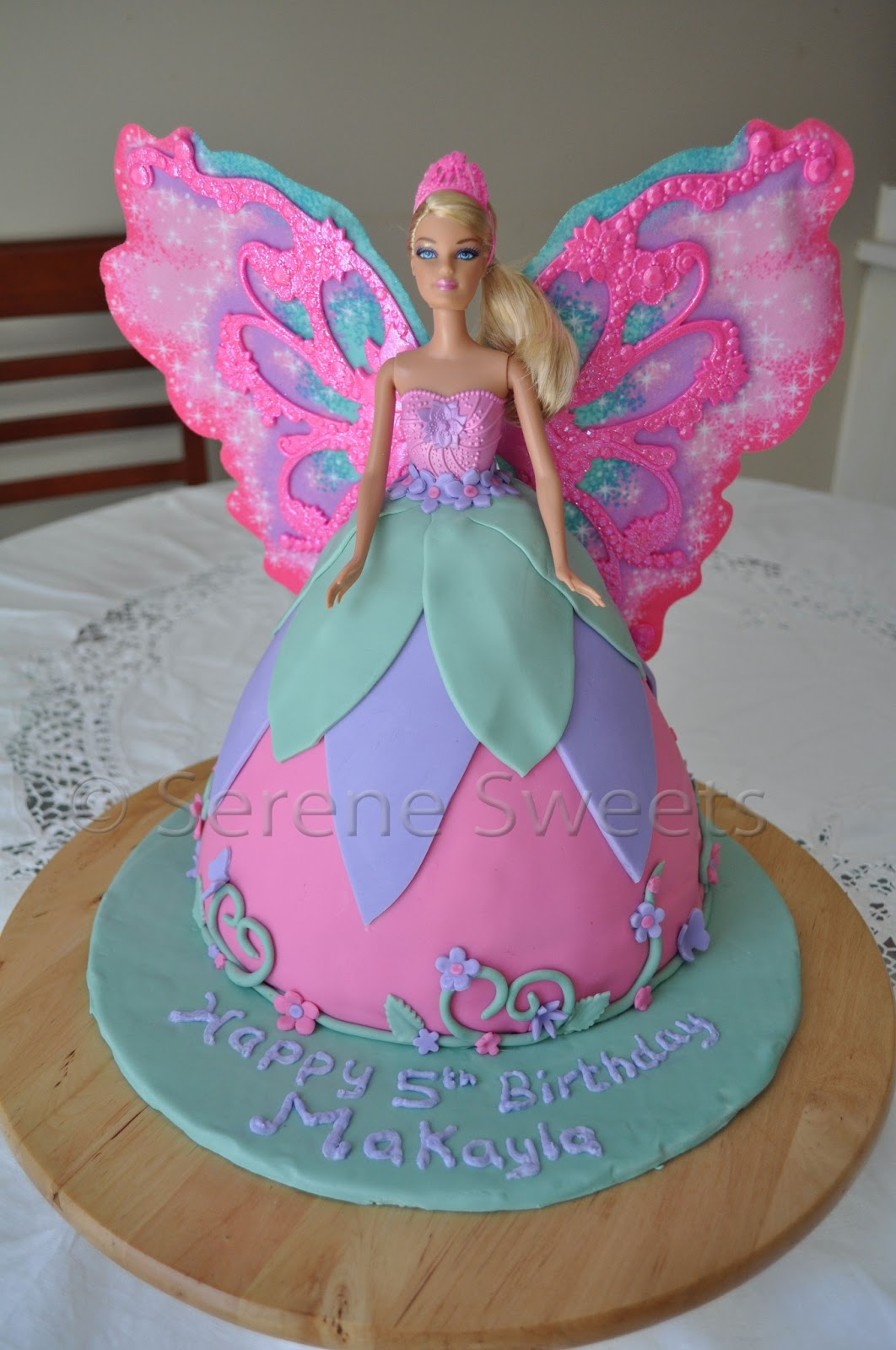 90 Birthday Cake With Fairy Pink Birthday Cake Fairy Accessory