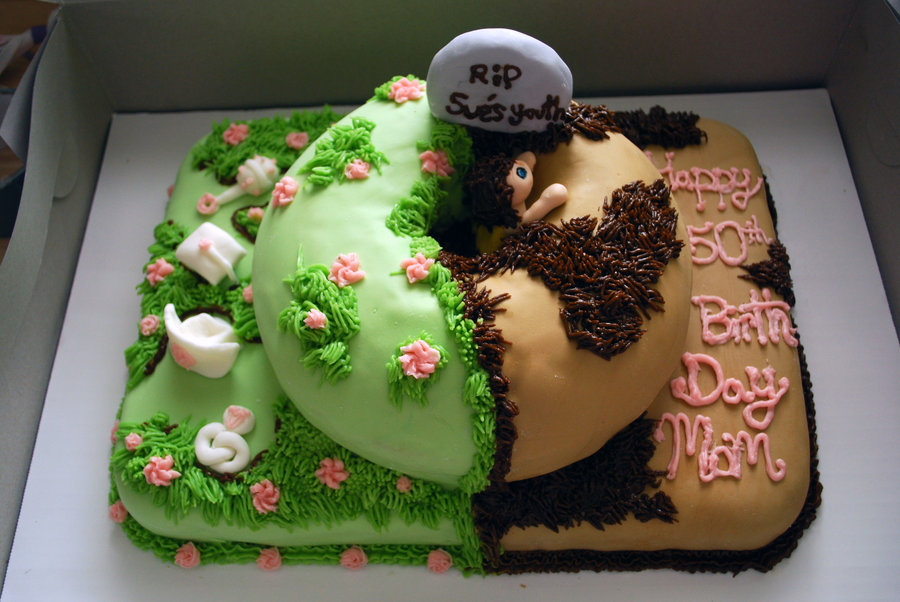 11 Over The Hill 50th Birthday Cakes For Woman Photo Funny Over