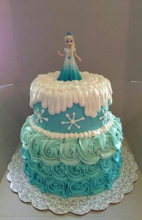 12 Elsa Frozen Cakes And Cake Photo Frozen Themed Birthday Cake