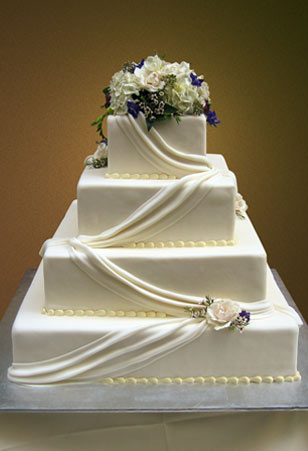 10 Simple Swag Designs For Cakes Photo Simple Elegant Wedding Cake