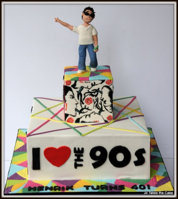 90s Themed Birthday Cake