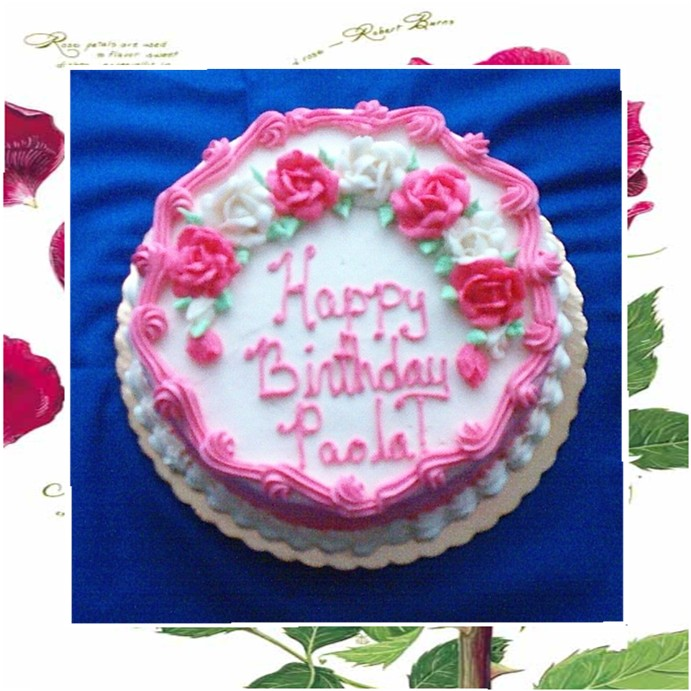 9 Girl Birthday Cakes Frosting Photo Birthday Cakes With