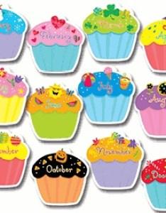 TCR7626 Cupcakes Happy Birthday Chart Image