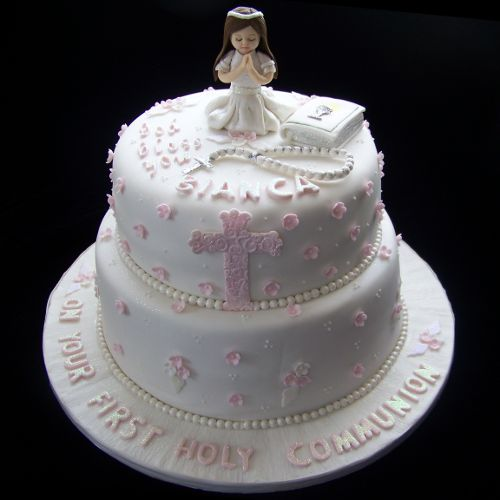 11 First Holy Communion Cakes For Girls Photo First Communion Cake