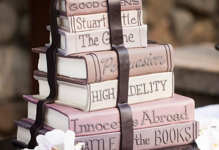11 Cakes That Look Like Stacked Books Photo Wedding Cakes That