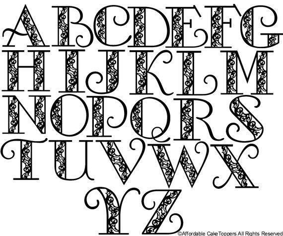 Cool Letter Fonts | mwb-online co