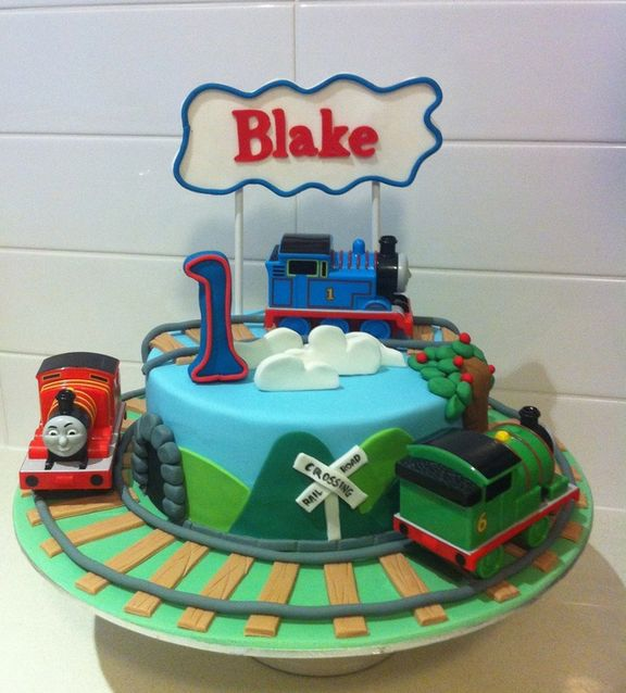 12 Thomas The Train First Birthday Cakes Designs Photo Thomas