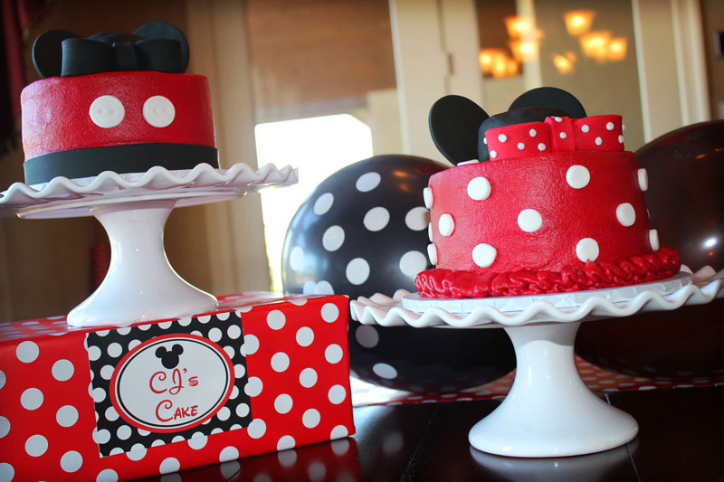 9 Mickey And Minnie Mouse Smash Cakes Photo Minnie Mouse Smash