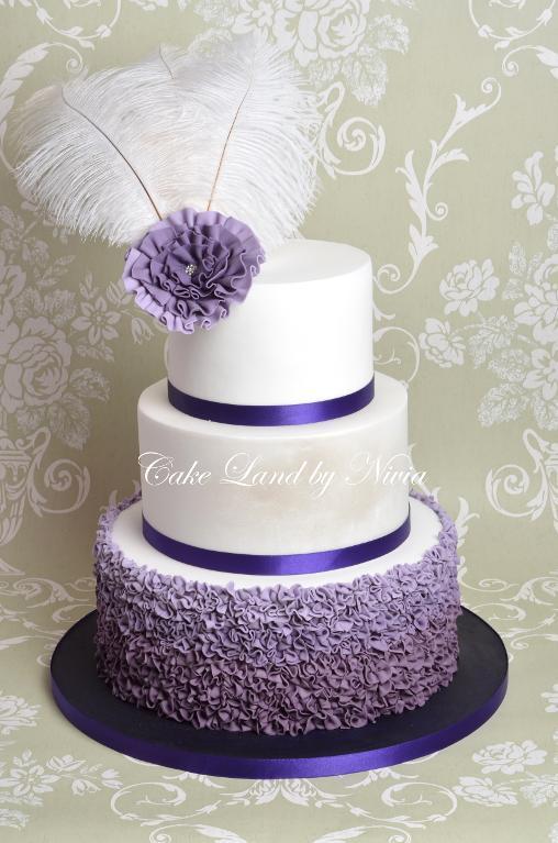 12 Purple And Black Elegant Birthday Cakes For Women Photo Purple