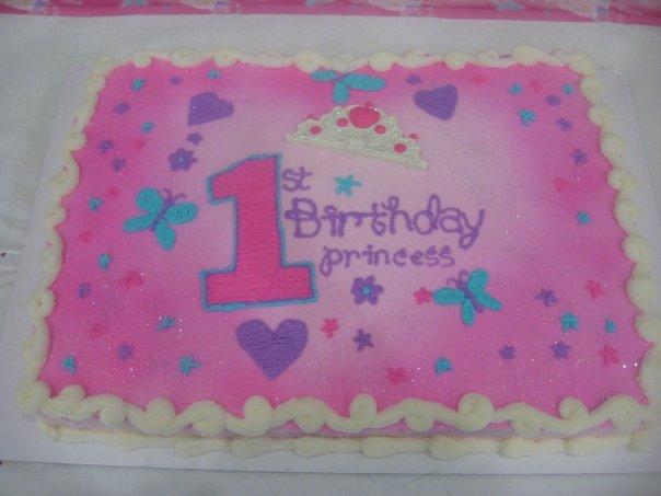 10 1st Birthday Sheet Cakes For Girls Photo Girls 1st Birthday