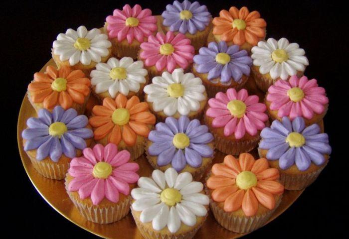 11 Easy Flower Cupcakes Photo Spring Flower Cupcakes Easy Flower