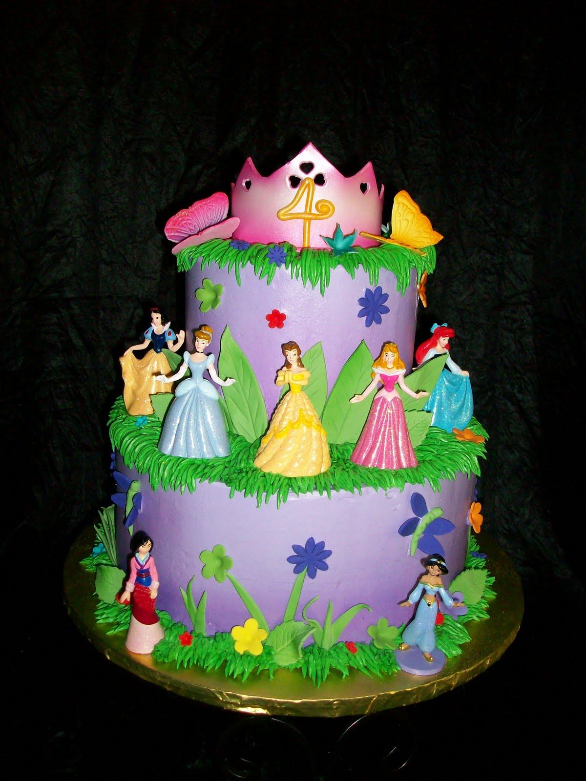 5 Happy Birthday Disney Princess Cakes Photo Disney Princess