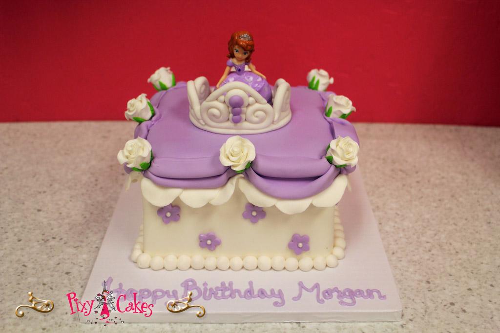 10 Purple Princess Birthday Cakes For Girls Photo Pink And Purple