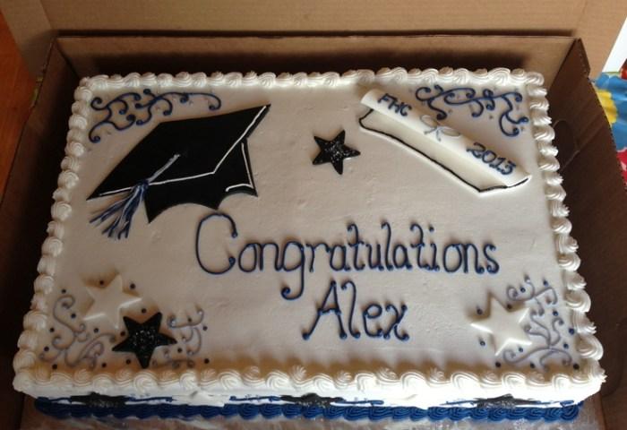 13 College Graduation Cake Sheet Cakes For Boys Photo Graduation