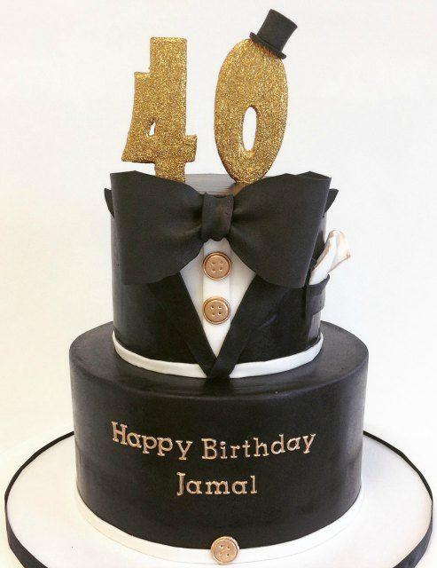 Gold And Cake Men Black 50th Birthday Ideas