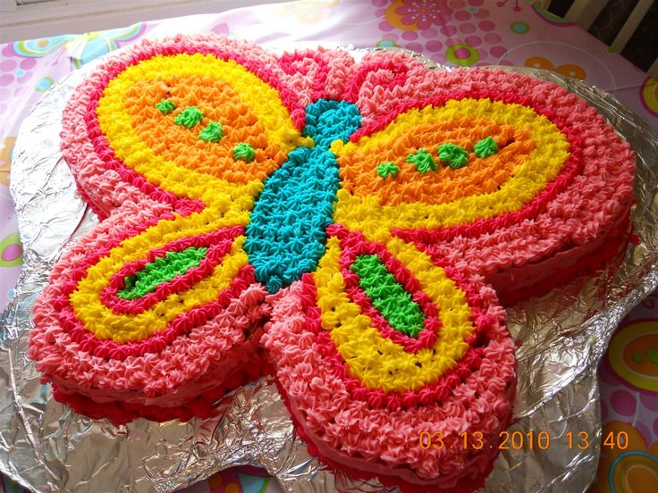 12 Butterfly Birthday Cakes For 1 Year Old Photo Butterfly